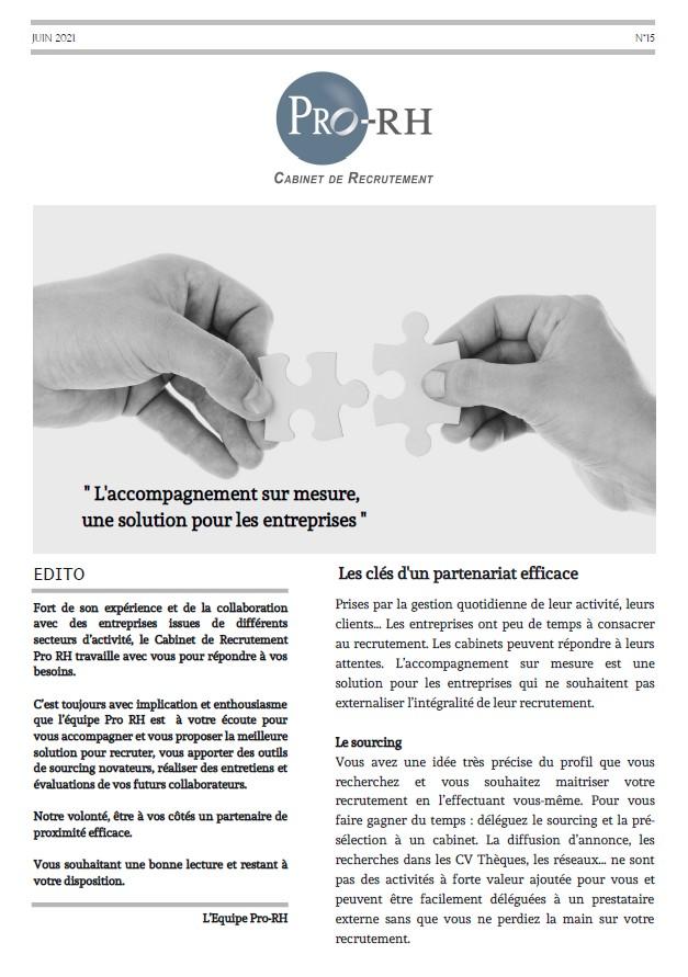 Newsletter n°15 - Juin 2021